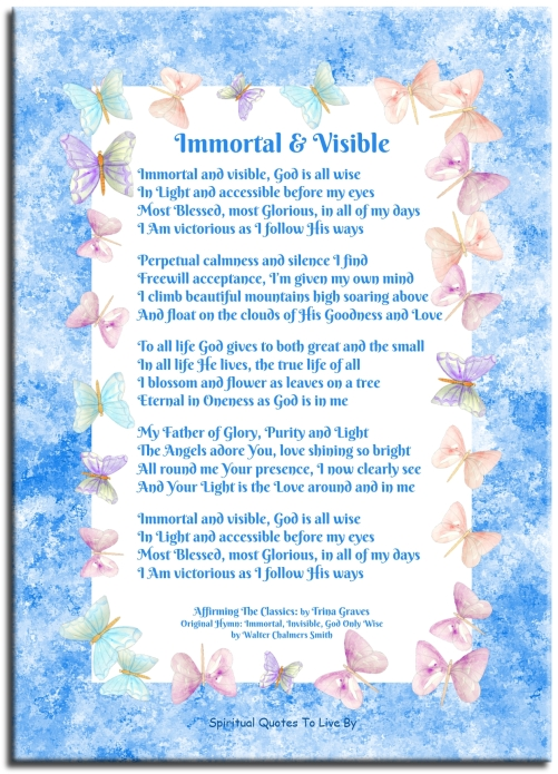 Affirming The Classics: Immortal & Visible by Trina Graves - Spiritual Quotes To Live By